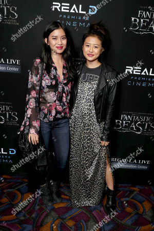 """Brianne Tju and Haley Tju seen at Warner Bros' """"Fantastic Beasts and Where to Find Them"""" Los Angeles Screening at Regal LA, in Los Angeles"""