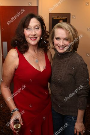 """Stock Image of From left, cast members Sandra Shipley and Joyce Chittick pose during the party for the opening night performance of """"Anything Goes"""" at the Center Theatre Group/Ahmanson Theatre on 29, in Los Angeles, Calif"""