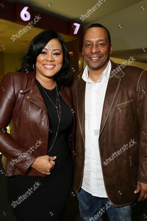 """Lela Rochon and Director Deon Taylor seen at a """"Supremacy"""" Special Screening held at the Landmark West LA, in Los Angeles, CA"""