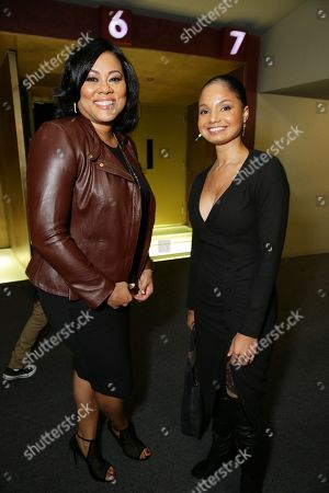 """Lela Rochon and Robin Bobeau seen at a """"Supremacy"""" Special Screening held at the Landmark West LA, in Los Angeles, CA"""