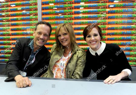 """From left, cast members Dee Bradley Baker, Wendy Schaal and Rachael MacFarlane attends the FOX """"Family Guy & American Dad"""" booth signing on Day 4 of Comic-Con International on in San Diego, Calif"""