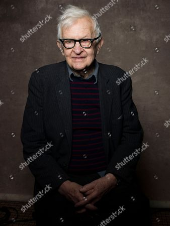 "Director Albert Maysles from the film ""Focus Forward"" poses for a portrait during the 2013 Sundance Film Festival at the Fender Music Lodge on in Park City, Utah"