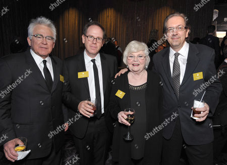 From left, Ron Yerxa, Albert Berger, June Squibb and screenwriter Bob Nelson attend the 86th Oscars Nominees Luncheon, on in Beverly Hills, Calif