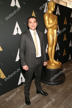 Naji Abu Nowar arrives at the 88th Academy Awards Foreign Language Films at Samuel Goldwyn Theater, in Beverly Hills, Calif