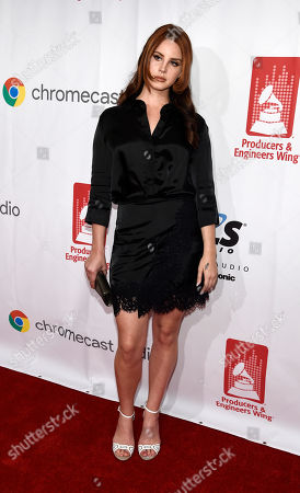 Singer Lana Del Rey poses at the 9th Annual Grammy Week Event Honoring Rick Rubin at The Village Recording Studios, in Los Angeles