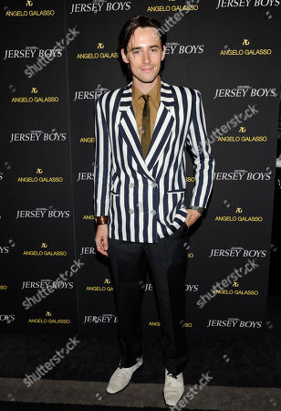 "Reeve Carney attends a cocktail reception for a special screening of his new film ""Jersey Boys"" in the Angelo Galasso boutique inside The Plaza on in New York"