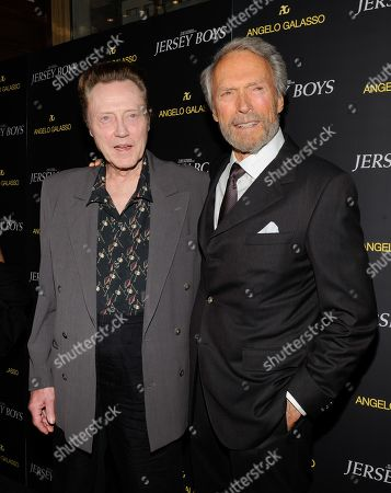 "Actor Christopher Walken, left, and director Clint Eastwood attend a cocktail reception for a special screening of the film ""Jersey Boys"" in the Angelo Galasso boutique inside The Plaza on in New York"