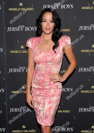 "Courtney Reed attends a cocktail reception for a special screening of the new film ""Jersey Boys"" in the Angelo Galasso boutique inside The Plaza on in New York"
