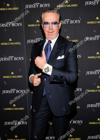 "Italian menswear designer Angelo Galasso attends a cocktail reception for a special screening of the film ""Jersey Boys"" in his boutique inside The Plaza on in New York"