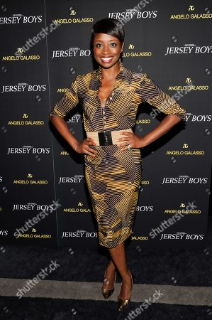 "Montego Glover attends a cocktail reception for a special screening of the new film ""Jersey Boys"" in the Angelo Galasso boutique inside The Plaza on in New York"