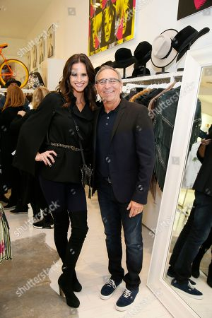 Celebrity Meghan King Edmonds, left, and Ron Robinson pose at the exclusive Barbie x Andy Warhol launch at Ron Robinson celebrating two pop culture icons on in Santa Monica, Calif