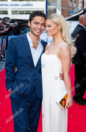 English actress Emma Rigby and English actor Sebastian de Souza pose for photographers during the UK film premiere of Plastic at Central London cinema, London