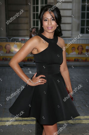 British actress Farzana Dua Elahe arrives for the UK gala screening of the film The One Hundred Foot Journey, at the Curzon Mayfair in central London, England