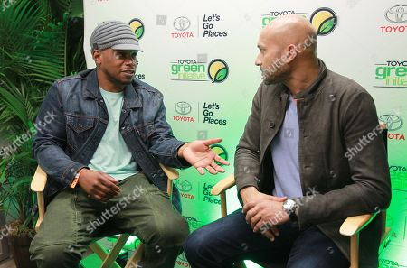 Sway Calloway and actor Keegan-Michael Key are seen at the Toyota Green Initiative Experience during Broccoli City Festival 2016, in Washington