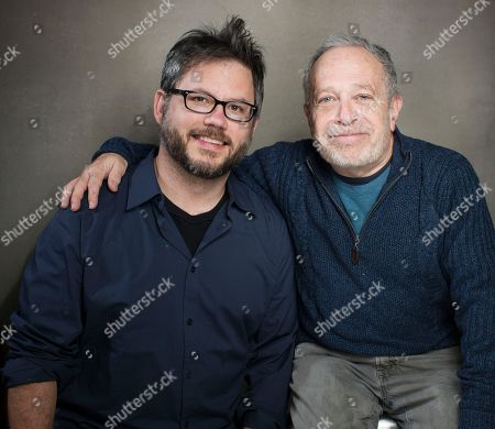 "This photo shows director Jacob Kornbluth, left, and author, economist and former Secretary of Labor Robert Reich from the film ""Inequality For All"" during the 2013 Sundance Film Festival at the Fender Music Lodge in Park City, Utah"