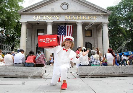 The Good Humor Man helps kick off Good Humor's Welcome to Joyhood campaign in Boston with the unveiling of the Good Humor Joy Squad at Sam Adams Park on . Follow @GoodHumor on Twitter as the Joy Squad travels around Boston this summer