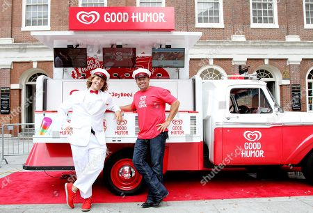 Professional baseball champion Kevin Millar kicks off the Good Humor Welcome to Joyhood campaign in Boston by teaming up with the Good Humor Man to hand out free frozen treats at Sam Adams Park on . Follow @GoodHumor on Twitter as the Joy Squad travels around Boston this summer