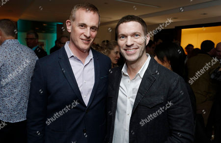 Peter Schlessel and Travis Knight seen at the LAIKA 10th Anniversary Party at The London Hotel, in West Hollywood, Calif