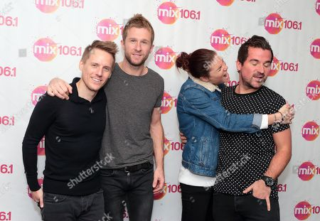 Chris Durling, from left, Danny Bemrose, Aimee Driver and David Nowakowski of the band Scars on 45 visit the Mix 106 Performance Theater, in Philadelphia