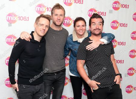 Stock Photo of Chris Durling, from left, Danny Bemrose, Aimee Driver and David Nowakowski of the band Scars on 45 visit the Mix 106 Performance Theater, in Philadelphia