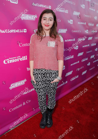 Victoria Strauss attends the Summer With Cimorelli Season 1 Premiere at YouTube on Tuesday, June, 3, 2014, in Los Angeles
