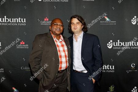 "Stock Image of Ubuntu Co-founder Malizole ""Banks"" Gwaxula and Jacob Lief seen at the Ubuntu Education Fund Gala at Gotham Hall, on in New York"
