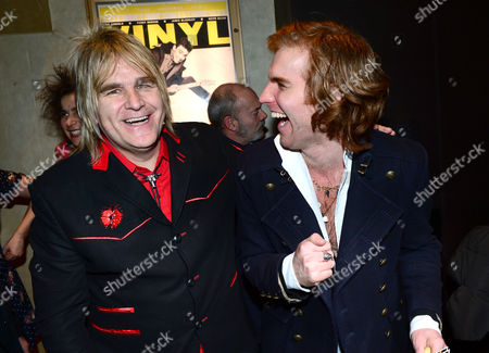 Mike Peters; Miguel Demelo at the UK Gala Screening of Vinyl at the Empire Leicester Square in London on