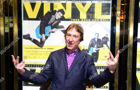 Steve Diggle at the UK Gala Screening of Vinyl at the Empire Leicester Square in London on