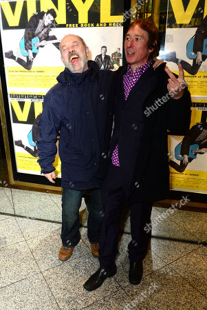 Keith Allen; Steve Diggle at the UK Gala Screening of Vinyl at the Empire Leicester Square in London on