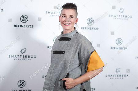 "Amy Emmerich attends the LA premiere of ""Come Swim"" at the Landmark Theatre, in Los Angeles"