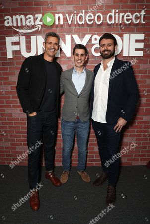 Funny Or Die CEO Mike Farah, Amazon Video Direct Head of Content Acquisition Kevin Silverman, Funny or Die Vice President of Partner Content Brian Toombs