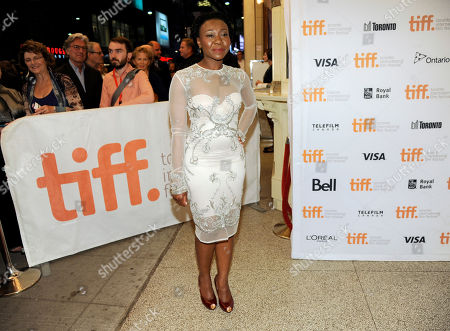 """Muna Otaru attends the premiere of """"The Keeping Room"""" on day 5 of the Toronto International Film Festival at the TIFF Bell Lightbox, in Toronto"""
