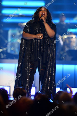 Tasha Cobbs performs during the 2015 Soul Train Awards at the Orleans Arena, in Las Vegas