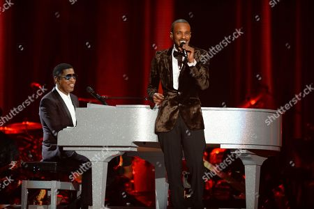 Kenny 'Babyface' Edmonds and Tevin Campell perform at the 2015 Soul Train Awards at the Orleans Arena on Friday, Nov. 6th, 2015, in Las Vegas