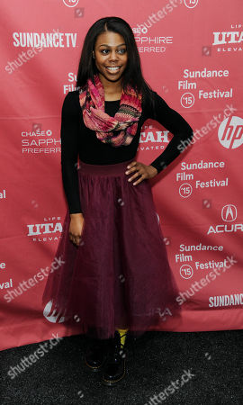 """Gail Bean, a cast member in """"Unexpected,"""" poses at the premiere of the film at the Library Center Theatre during the 2015 Sundance Film Festival, in Park City, Utah"""