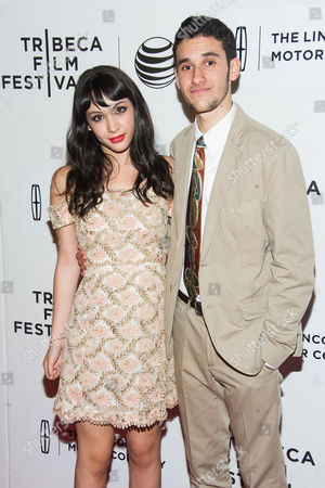"""Stock Image of Hannah Marks and Ben Konigsberg attend the Tribeca Film Festival world premiere of """"Anesthesia"""" at the BMCC Tribeca Performing Arts Center, in New York"""