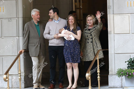 Editorial picture of Chelsea Clinton And Family Depart Lenox Hill Hospital, New York, USA - 20 Jun 2016