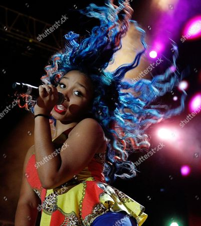 Zonnique Pullins of The OMG Girlz performs at the Essence Music Festival in New Orleans, . This is the first day of the four day music festival