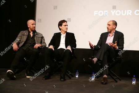 """Creator/Writer/Exec. Producer Todd A. Kessler, Creator/Writer/Exec. Producer Daniel Zelman and Creator/Writer/Exec. Producer Glenn Kessler seen at Netflix """"Bloodline"""" Television Academy Screening at the Pacific Design Center, in Los Angeles, CA"""