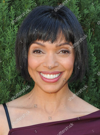 Tamara Taylor arrives at the Rape Treatment Center fundraiser at Greenacres, the private residence of Ron Burkle,, in Beverly Hills, Calif