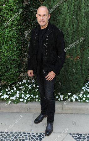 John Varvatos arrives at the Rape Treatment Center fundraiser at Greenacres, the private residence of Ron Burkle,, in Beverly Hills, Calif