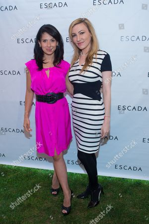 Hilaria Baldwin and Devorah Rose attend the 3rd Annual St. Barth Hamptons Gala presented by Social Life Magazine and St. Barth Tourism in Bridgehampton on in New York