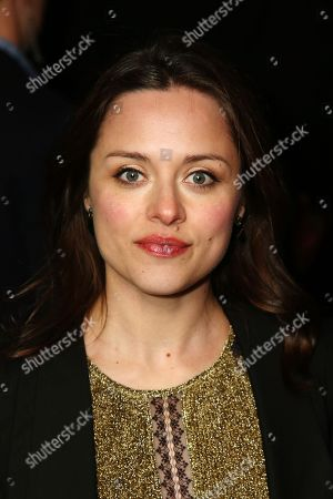 Stock Photo of Zoe Trapper and guest arrives at the The BRIT Awards 2013 - Warner Music & Vanity Fair Afterparty at The Savoy Hotel, in London