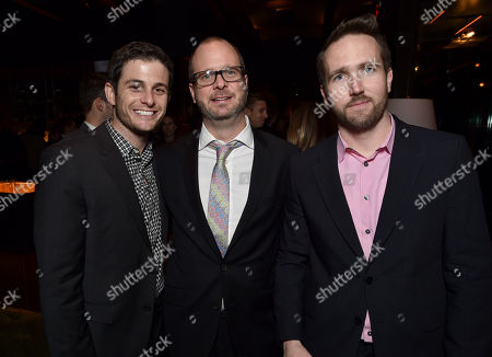 Le Train Train Executive VP Development Jeff Grosvenor, and from left, Tom Young and Mosaic's Dan McManus are seen at The Hollywood Reporter Next Gen 2014 Celebration presented by American Airlines, Lifetime, Samsung Galaxy, Mercedes Benz, and Travaasa at Hyde Sunset Kitchen and Cocktails, in West Hollywood, Calif