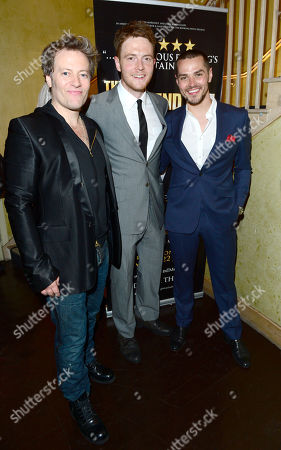 Stock Image of Glenn Carter; David Thaxton; Matt Willis at The West End Men after party in London on Monday, May 3rd, 2013