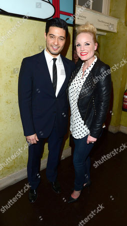 Stephen Rahman-Hughes; Kerry Ellis at The West End Men after party in London on Monday, May 3rd, 2013