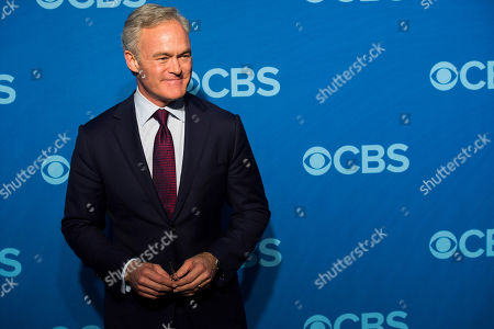 "Scott Pelley, anchor of ""CBS Evening News,"" at the CBS Upfront in New York"