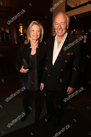 """From right, cast member Christopher Plummer and wife Elaine Taylor pose during the party for the opening night performance of """"A Word or Two"""" starring Christopher Plummer at the Center Theatre Group/Ahmanson Theatre on January, 22, 2014, in Los Angeles, Calif"""