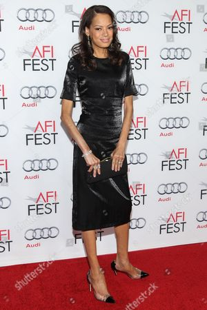 """Model Keisha Nash Whitaker arrives at the 2013 AFI Fest premiere of """"Out of the Furnace"""" at the TCL Chinese Theatre on in Los Angeles"""