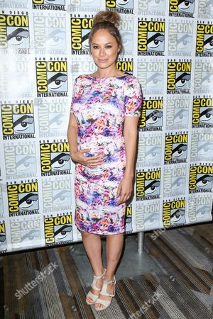 Stock Photo of Moon Bloodgood attends the Falling Skies press line on day 2 of Comic-Con International, in San Diego
